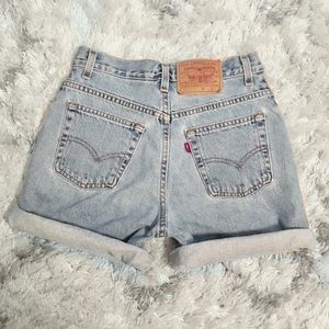 Bintage Levi's Shorts High Waisted Rise 28 4 Light